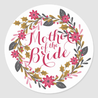 Mother of the Bride Christmas Wedding Sticker
