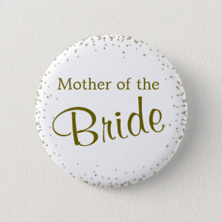Mother of the Bride Confetti 6 Cm Round Badge