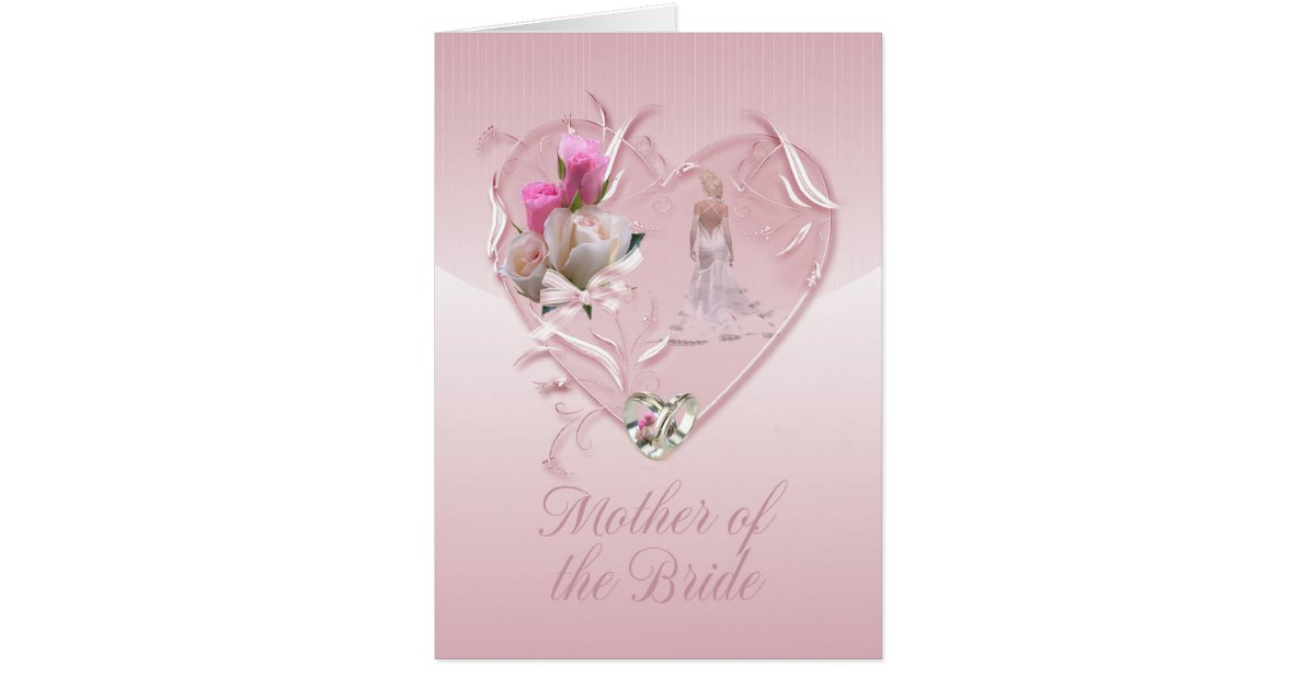 Mother Of The Bride Congratulations Mother Of Th Card