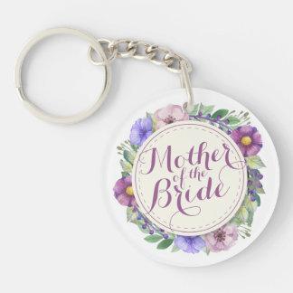 Mother of the Bride Elegant Floral Keychain