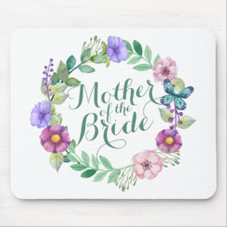 Mother of the Bride Elegant Floral Wedding Mousepa Mouse Pad