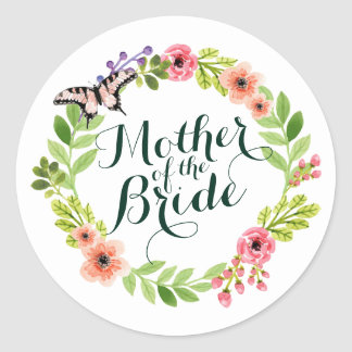 Mother of the Bride Elegant Floral Wedding Sticker
