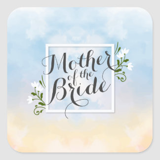 Mother of the Bride Elegant Frame Sticker Seal