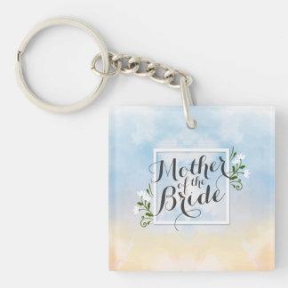 Mother of the Bride Elegant Frame Wedding Keychain