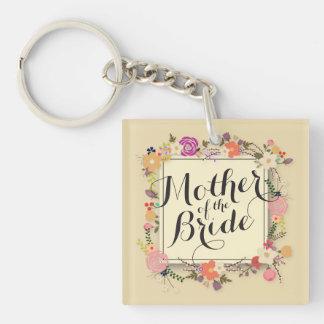Mother of the Bride Elegant Wedding Keychain