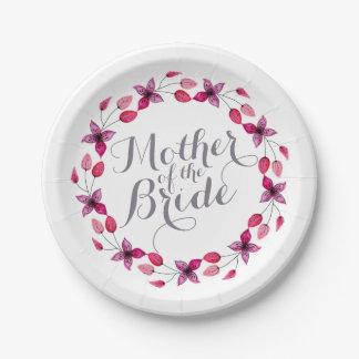 Mother of the Bride Elegant Wedding Paper Plate
