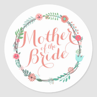 Mother of the Bride Elegant Wedding Sticker