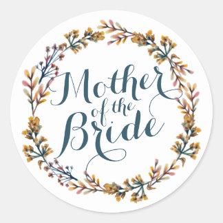 Mother of the Bride Elegant Wedding Sticker