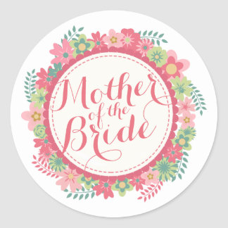 Mother of the Bride Elegant Wedding | Sticker Seal