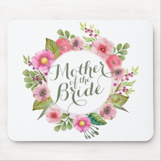 Mother of the Bride Elegant Wreath Mousepad