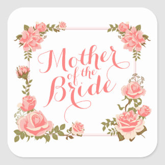 Mother of the Bride Elegant Wreath Sticker Seal