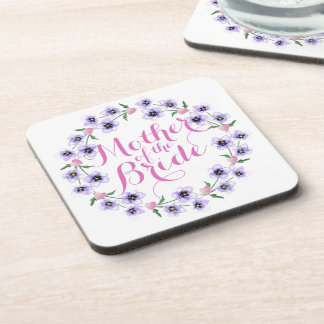 Mother of the Bride Floral Wedding Coaster