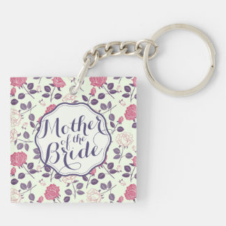 Mother of the Bride Floral Wedding Keychain
