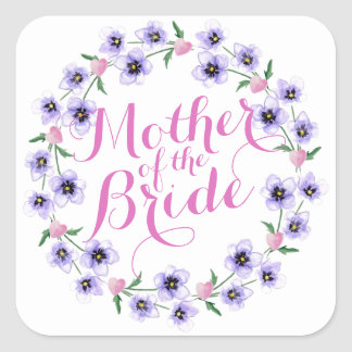 Mother of the Bride Floral Wedding Sticker