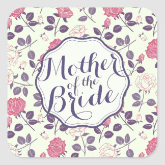 Mother of the Bride Floral Wedding Sticker Seal