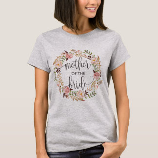 mother of the bride floral wreath -2 T-Shirt