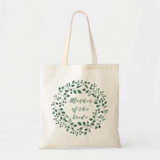 Mother of the Bride | Green Leaves Wreath Tote Bag