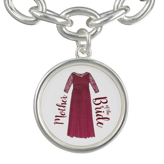 Mother of the Bride Groom Maroon Wedding Gown Gift