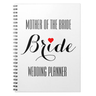 Mother of the Bride Heart Wedding Planner Notebook