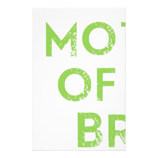 Mother of the Bride in Green Stationery Paper
