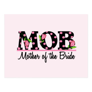 Mother of the Bride (MOD) Tulip Lettering Postcard