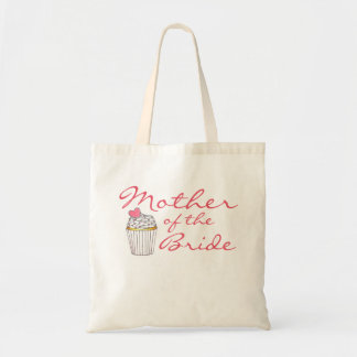 Mother of the Bride Pink Heart Cupcake Tote