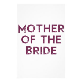 Mother of the Bride Plum Stationery Design