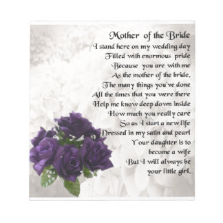 Mother of the Bride  -  Purple Roses Notepads