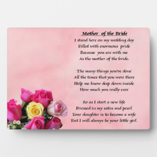 Mother of the Bride - Roses  Plaque