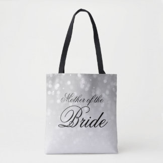 Mother Of The Bride Silver Bokeh Sparkle Lights Tote Bag