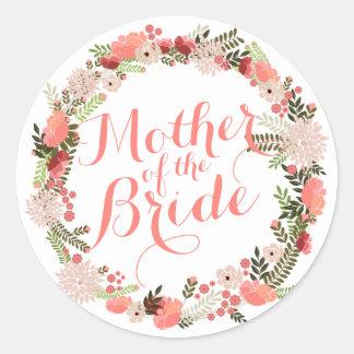 Mother of the Bride Spring Wedding Sticker