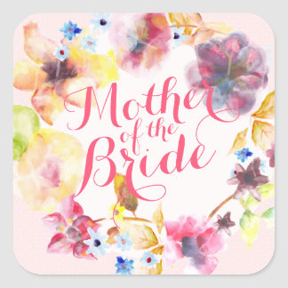 Mother of the Bride Spring Wedding Sticker Seal