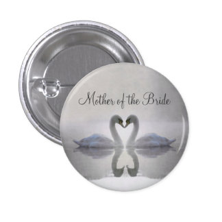 Mother of the Bride ~ Swans in Love Button