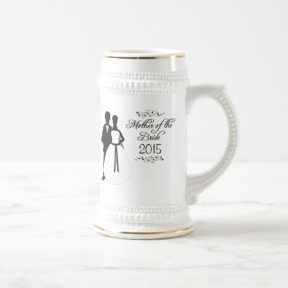 Mother of the bride swirls wedding favor stein