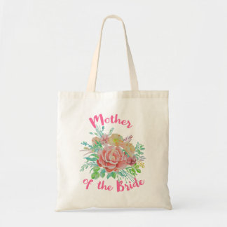 Mother of the Bride Vintage Floral Watercolor Gift Tote Bag