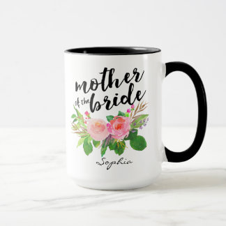 Mother of the Bride Watercolor Floral Personalized Mug