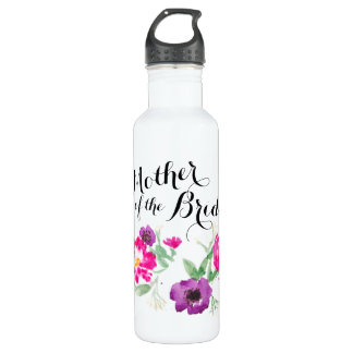 Mother of the Bride Watercolor Flowers Water 710 Ml Water Bottle