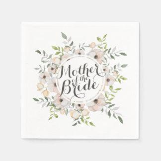 Mother of the Bride Watercolor Sketch | Napkin Paper Napkin