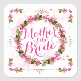 Mother of the Bride Watercolor Sticker Seal