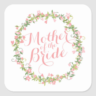 Mother of the Bride Watercolor Weddin Sticker Seal