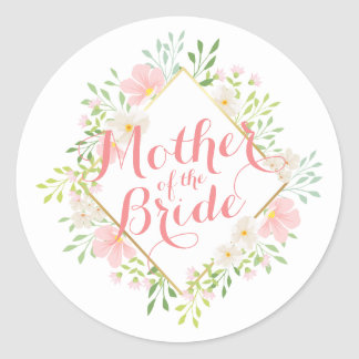 Mother of the Bride Watercolor Wedding Sticker