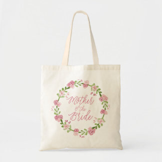 Mother of the Bride Watercolor Wreath Tote Bag