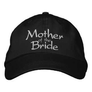 MOTHER OF THE BRIDE WEDDING CAP EMBROIDERED BASEBALL CAPS