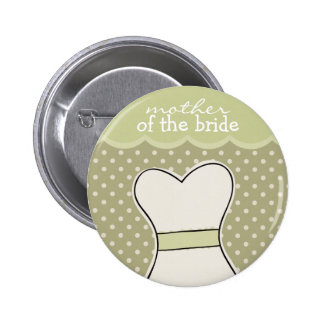 Mother of the Bride -- Wedding dress // GREEN 6 Cm Round Badge