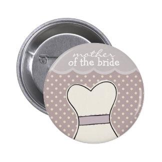 Mother of the Bride -- Wedding dress // PURPLE 6 Cm Round Badge