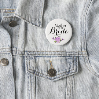 Mother of the Bride Wedding Pinback Buttons Badges
