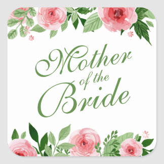 Mother of the Bride Wedding Sticker Seal