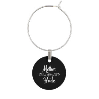 Mother of the Bride Wine Glass Charm