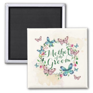 Mother of the Groom Butterfly Wreath | Magnet