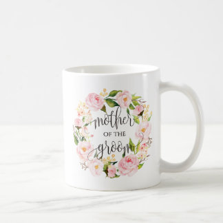 Mother of the Groom, Calligraphy, Floral Wreath-8 Coffee Mug